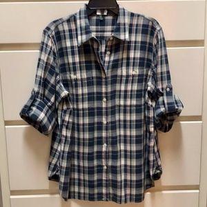 LRL Lauren Jeans plaid blouse size 1X